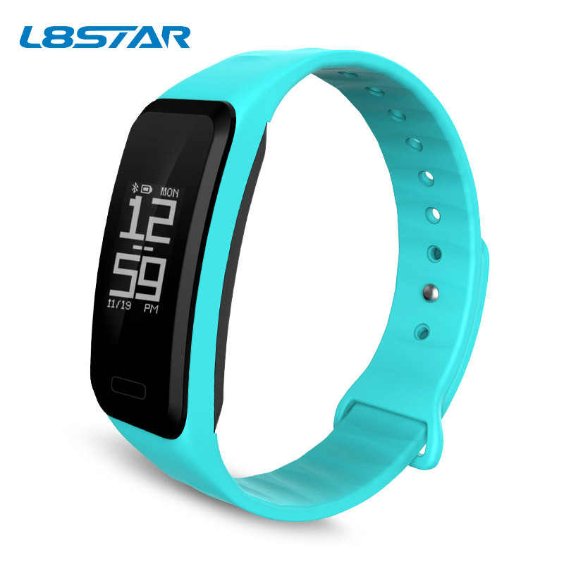 Wearable sport fitness gadget heart rate monitor pedometer 0.96inch