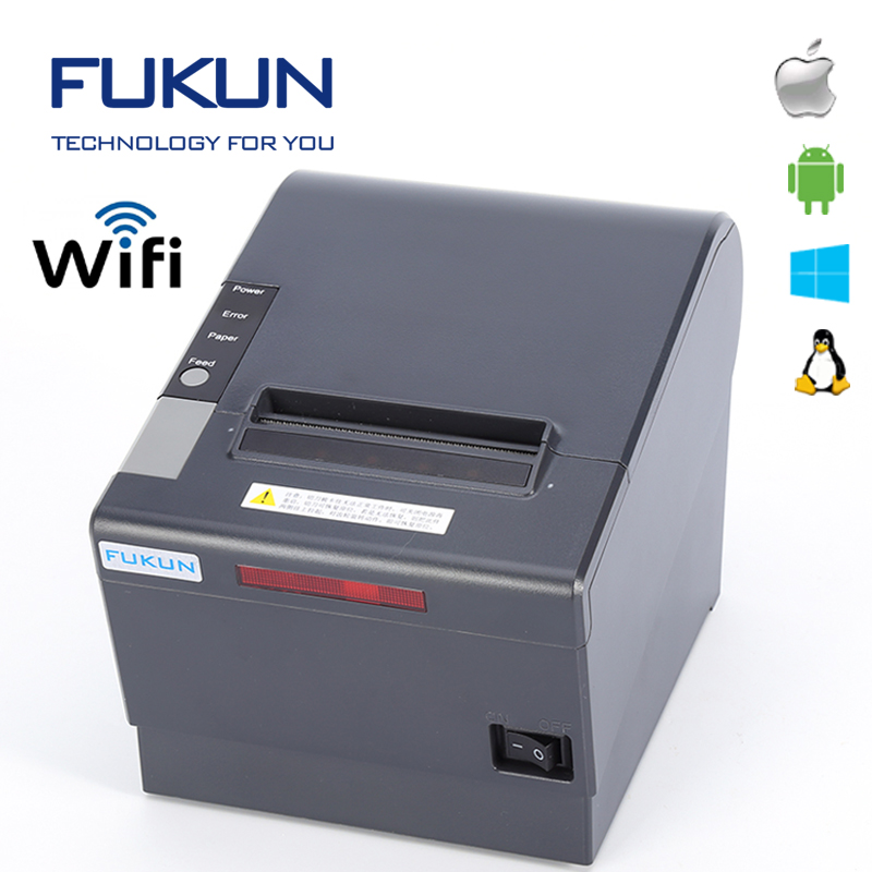 Shanghai USB + LAN + Wifi 80mm Thermobondrucker Tablet Android POS Drucker