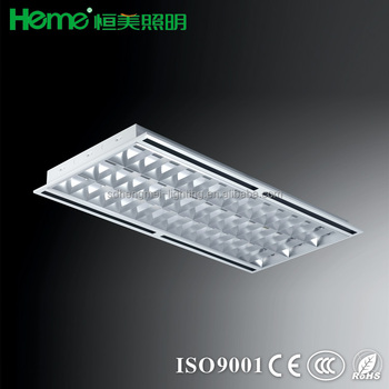 T5 Recessed Lighting Troffer Grille Lighting Lamp Light Fixture With Air  Slot Outlet