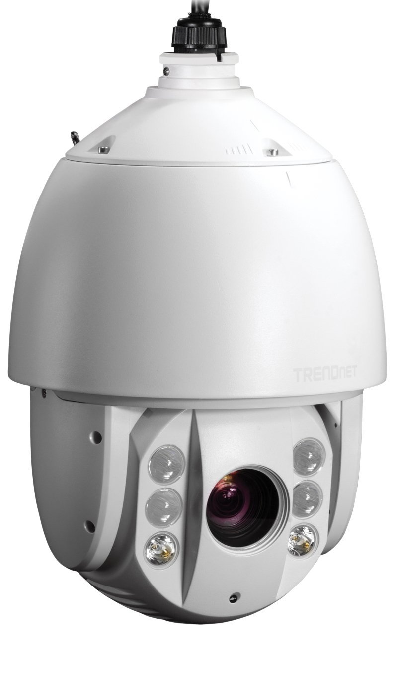 TRENDnet Indoor/Outdoor Speed Dome PoE+ IP Camera with 1.3 Megapixel 720p HD Resolution, 20x Optical Zoom, 16x Digital zoom with Auto-Focus, IP66 Weather Rated Housing, Smart IR Night Vision up to 330 ft., Endless 360 degree Pan/ 95 Degree Tilt, Samba or Micro SD Card slot, Digital WDR, Secu, Free