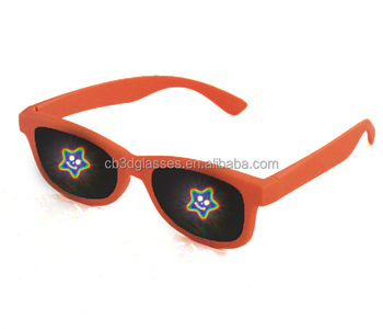 2018 plastic christmas 3d firework refraction diffraction glasses for party
