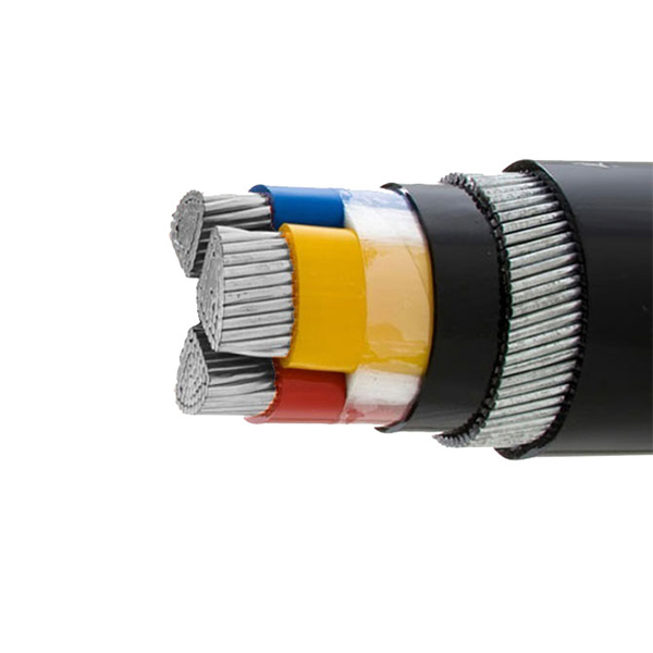 China manufacturer 15kv YJLV22 3x95mm xlpe pvc power cable