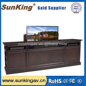 pop up lcd monitor lift tv bed cabinet