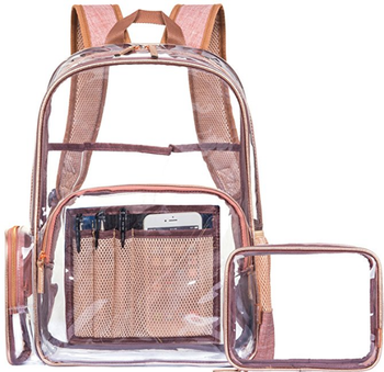 6c705e0953f6 Clear Backpack With Cosmetic Bag   Case