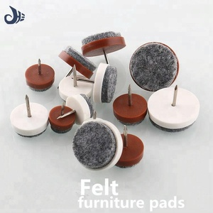 OEM foot nail felt furniture feet protector pads furniture glide felt pad with nail