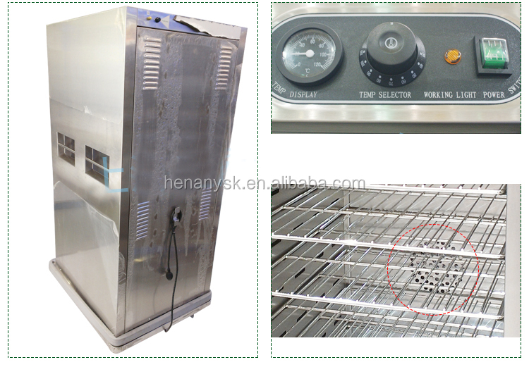 DH-11-21 Stainless Thermal Dining Car 1 Door Heat Circulation Insulation Diner Heating Cabinet Thermos Food Warmer Container
