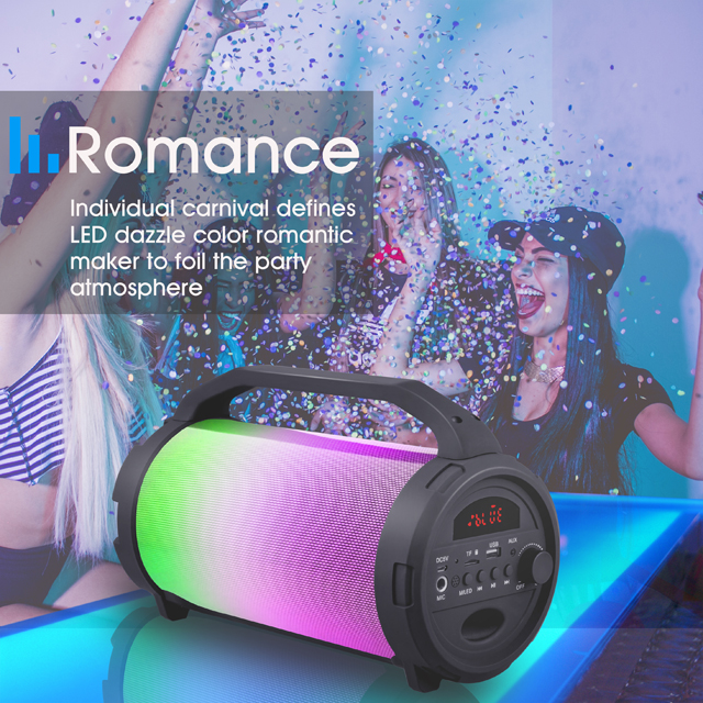 Mini Portable Bluetooth Speaker Built-In Rechargeable Li-Battery  3W Wooden Wireless Speaker for Christmas