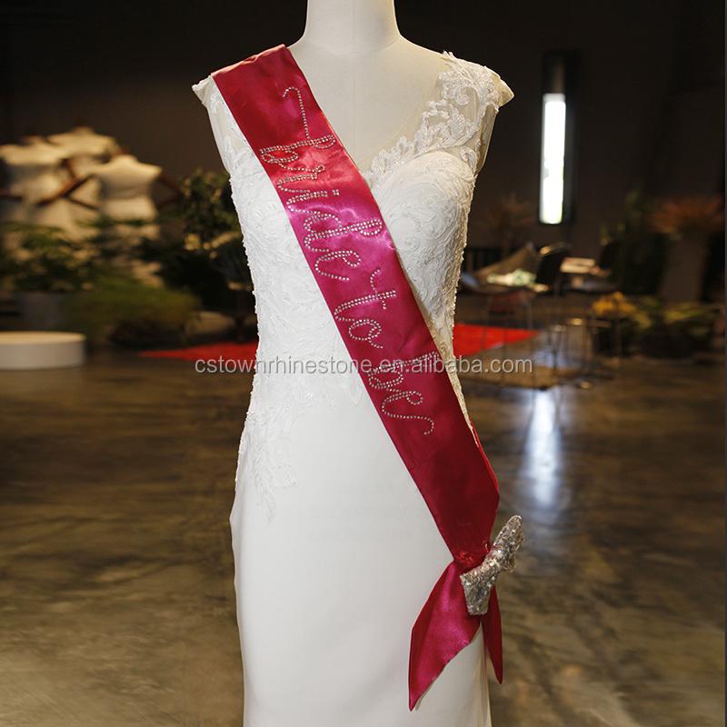 Customized bride to be sash bridal sash for Bachelorette Parties or Birthdays or Proms Pageants