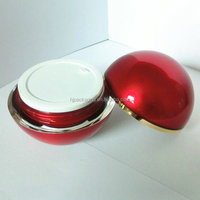 Shiney ball-shaped empty red ball cosmetic round jars