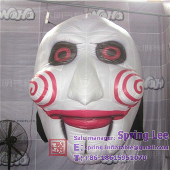 2.4m ceiling deocration hanging inflatable Halloween face