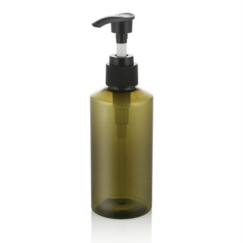 plastic package 100ml 150ml olive green pet plastic bottle with lotion pump