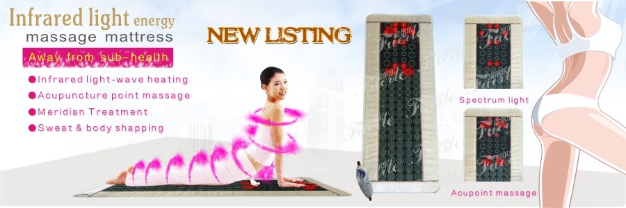 Amazon top sale Electronic thermal jade bed portable heat massage mattress vibrating massage pad