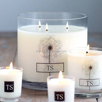 Wholesale 3 wicks customized 100% soy wax candle in color with different scents