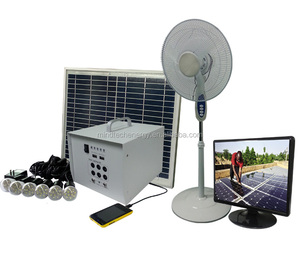 Portable home lighting kit 40w solar energy storage battery system