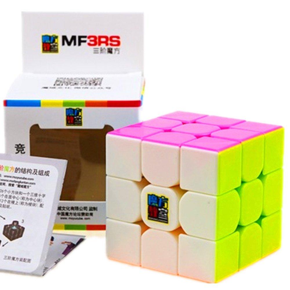 CuberSpeed Moyu MoFang JiaoShi MF3-RS Stickerless Pink 3x3x3 Magic cube Cubing Classroom MF3 RS 3X3 Candy Speed cube