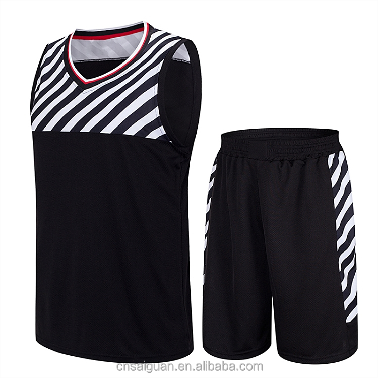 Top quality reversible basketball sets new style basketball jersey
