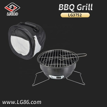 Factory-outlet charcoal bbq grill with cooler bag for outdoors activities