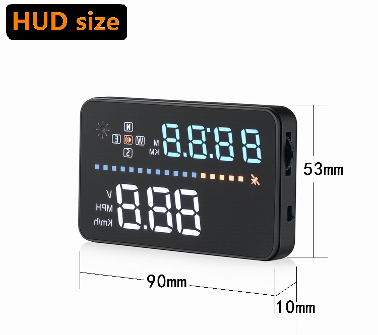 "Snelheid alarm GPS Head Up Display 3.5 ""obd1/obd2 head up display voor ziekenhuis"