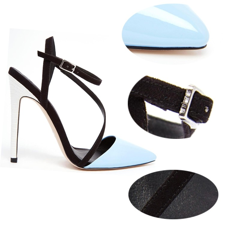 Elegant happy feet sandals new design strap buckle sexy lesbian high heel  sandal heel sandal sexy