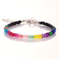 7 Healing Chakra Lava Stone Beaded Men Women Bracelet Seven Chakra Jewelry Wholesale
