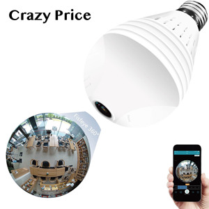 Wi-Fi Cheap Price 360 Degree camera 960P 1080P 2MP 3MP 5MP smart home phone app hidden Wireless Wifi Light Bulb Panoramic Camera
