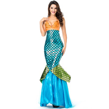 Volwassen vrouwen fancy dress mermaid kostuums <span class=keywords><strong>voor</strong></span> halloween <span class=keywords><strong>carnaval</strong></span> party mermaid jurk
