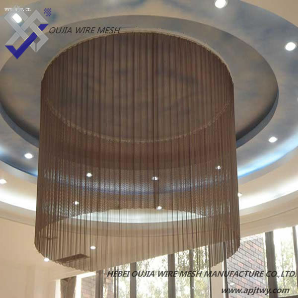 Decorative Metal Ring Mesh For Hotel Ceiling And Curtain Mesh ...