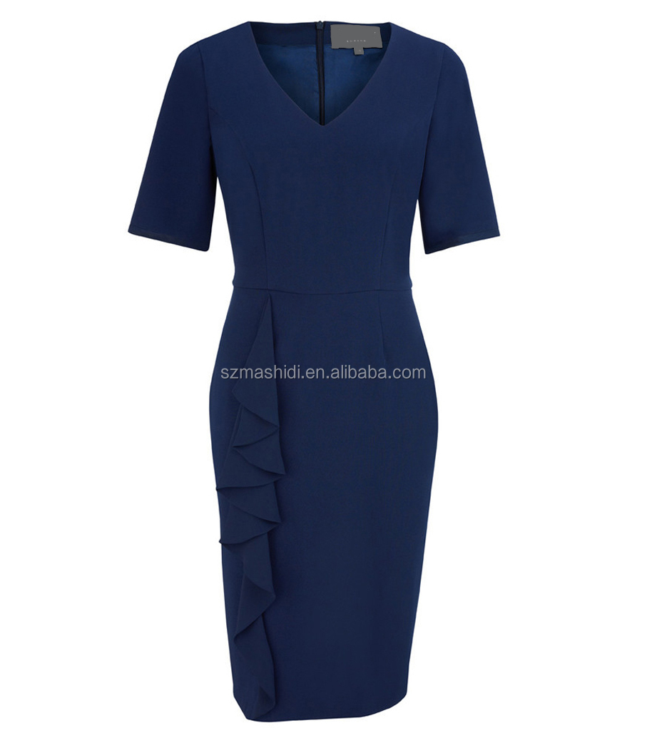 Hot sale elegant styles women office uniform design formal for Office design uniform