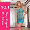 Hot fashion style sexy blue open dress lingerie in stock