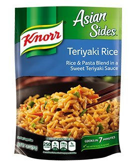 Knorr, Rice Sides, Flavor, 5.4oz Pouch (Pack of 6) (Choose Flavors Below) (Asian Sides Teriyaki Rice)