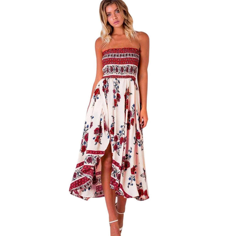 7d8faafd1772 Get Quotations · Caopixx Boho Dress