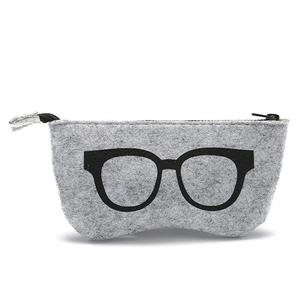 Alibaba Superior quality simple soft felt eyewear carrying cases