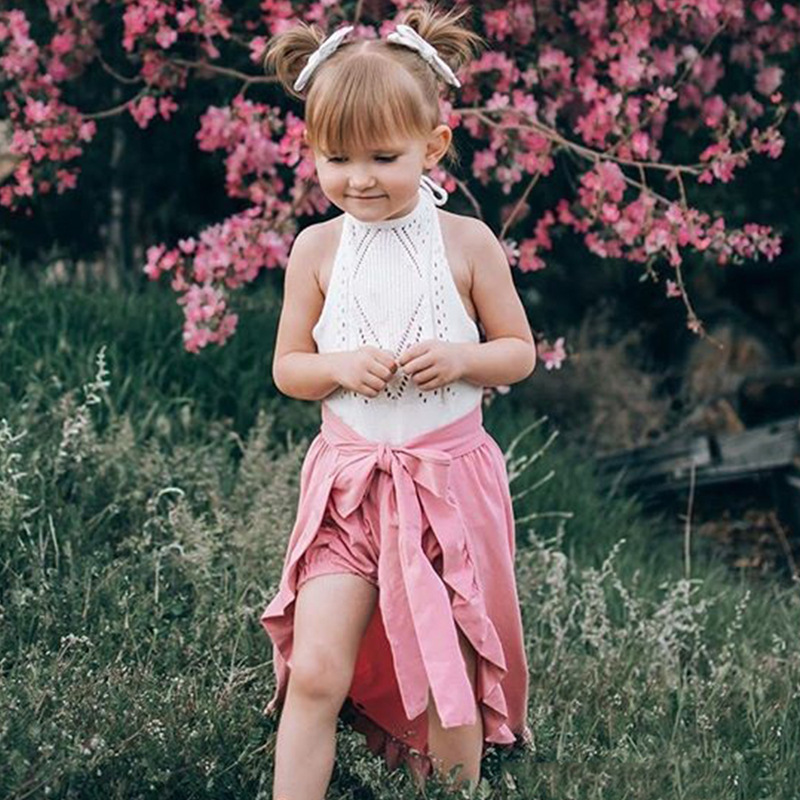 Girls' Dress Suit European And American Autumn New Butterfly Lotus Leaf Side Half Skirt Shorts
