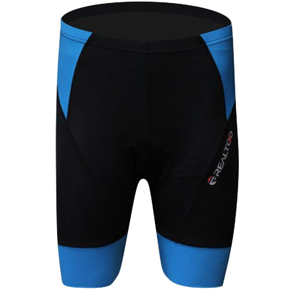 Men's Patchwork Coolmax 3D Gel Padded Cycling Riding Bicycle Bike Short Shorts