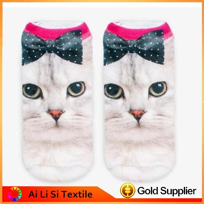 Wholesale Animal Face Socks Ladies Stylish Socks 3d Printed Socks Adult