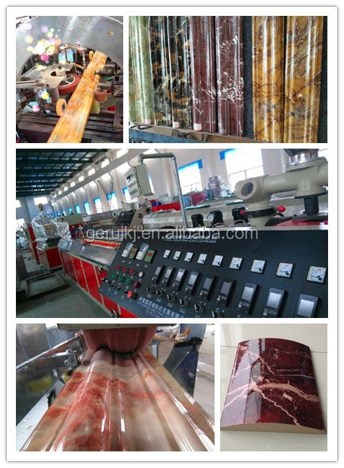 plastic man-made marble stone tile production line