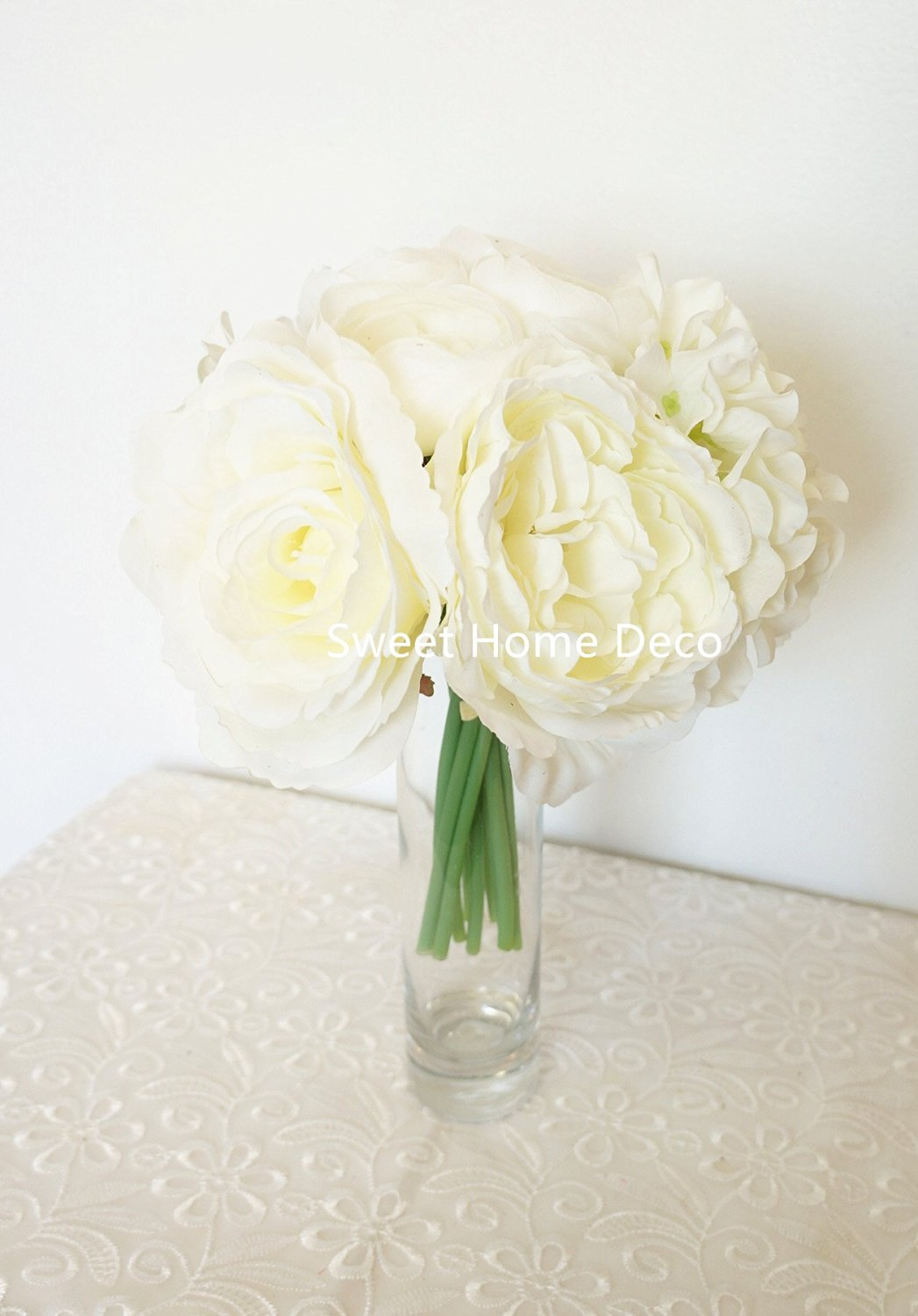 Buy Beautiful Red Roses W Small White Roses Floral Gem Crystal