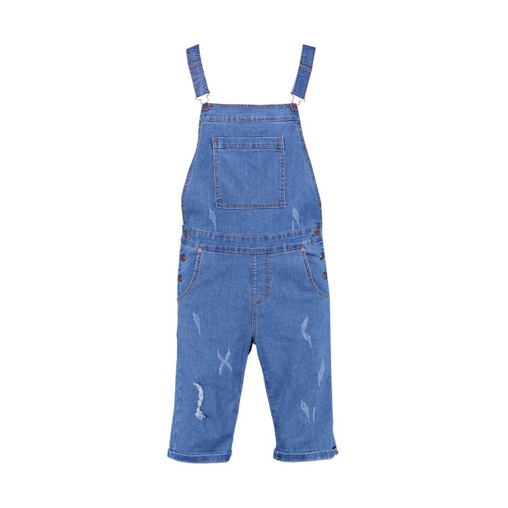 e5af5898daa9 Slim Fit Mens Denim Dungaree Shorts With Rips (jxa137) - Buy Denim ...