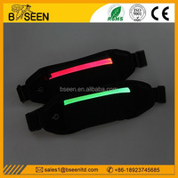 Hot new products for 2015 novelty item high qualtiy wholesale led lighting sports led running belt with pouch