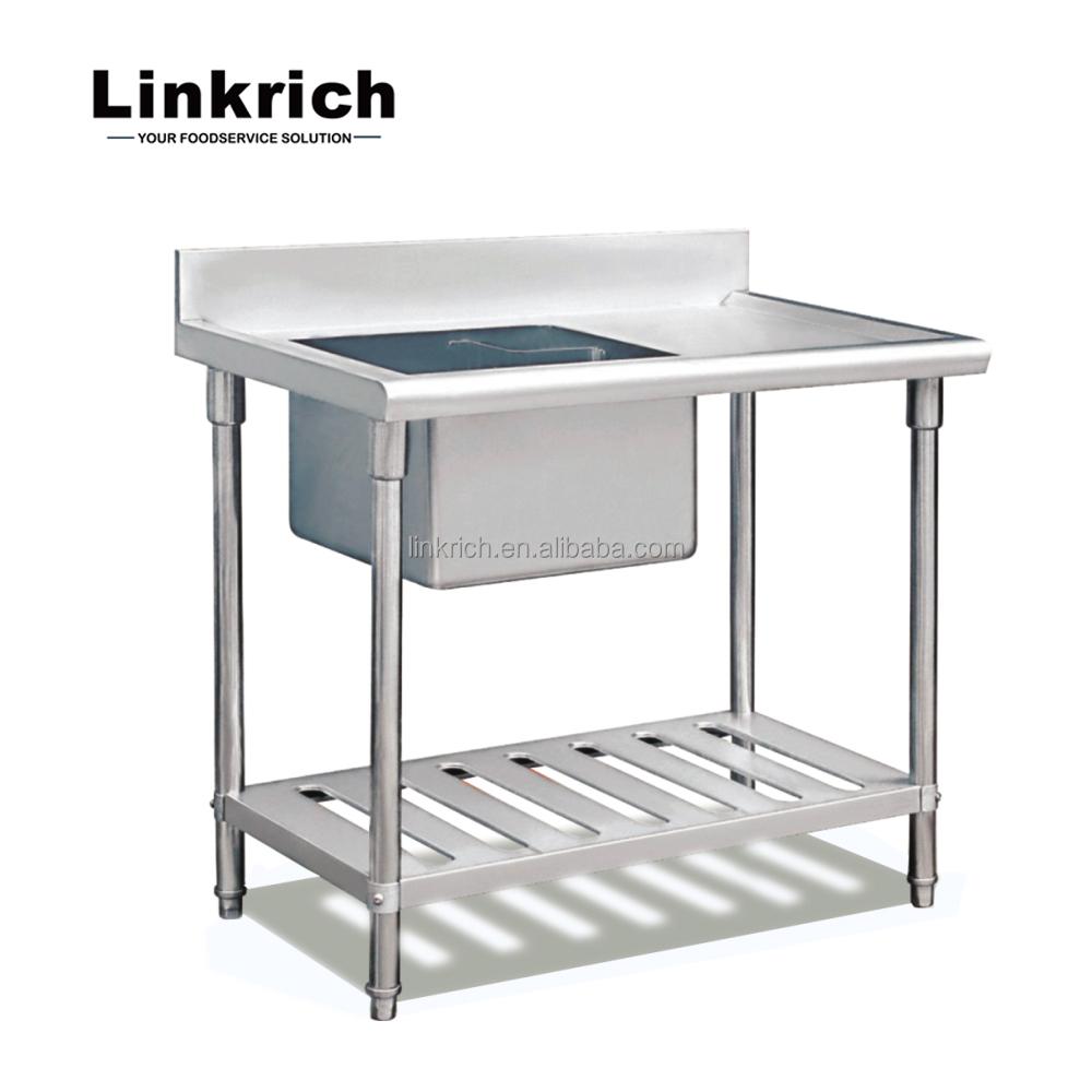 diseño de moda de acero inoxidable fregadero de la cocina mesa de