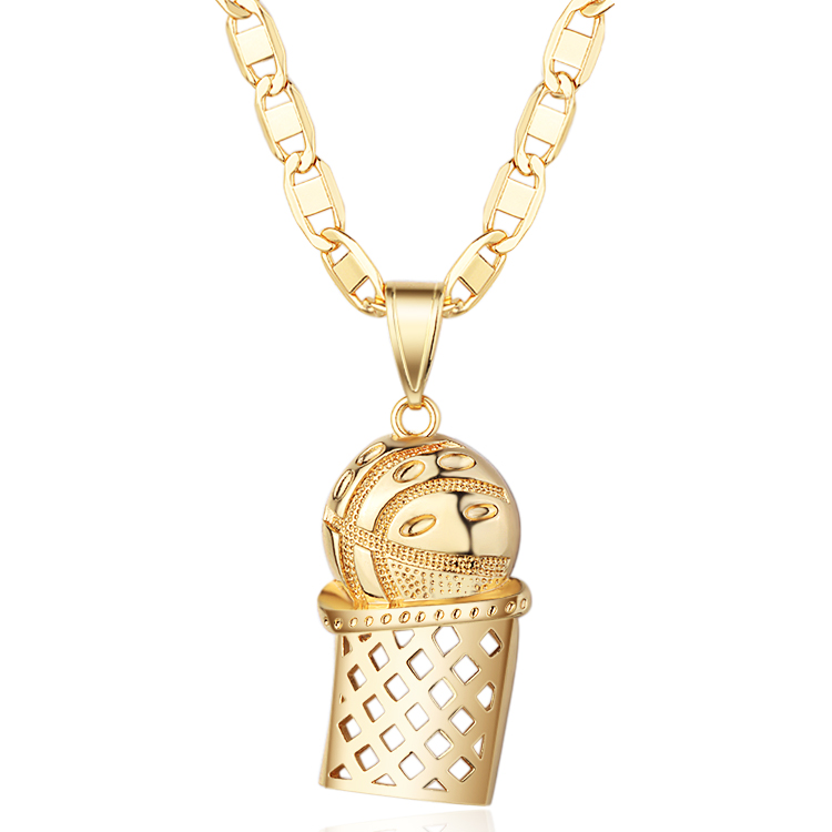 18K Gold Hot Sale USA Style Champion Cup Hiphop Pendant 18K Gold Plated Pendant, 18k gold,rose gold,champaign gold