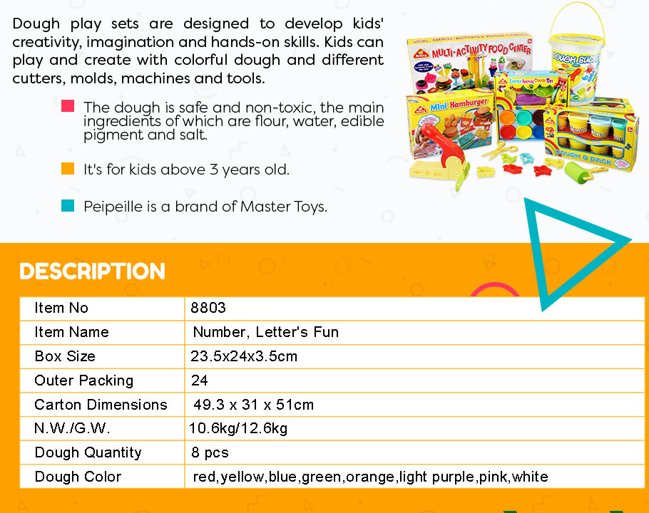 PLAY DOUGH, NUMBER & LETTER'S FUN, 2014 BEST SELLING EDUCATIONAL TOYS FOR KIDS