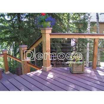 Holz Im Aussenbereich Terrasse Gelander Mit Drahtgeflecht Buy Holz