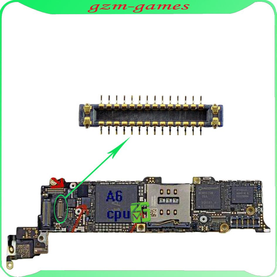 Alibaba China For Iphone 5 Lcd Fpc Connector Port On Motherboard ...