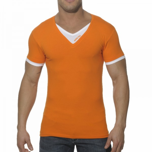 High Quality Fashion V Neck T Shirts With Customized Pocket ...