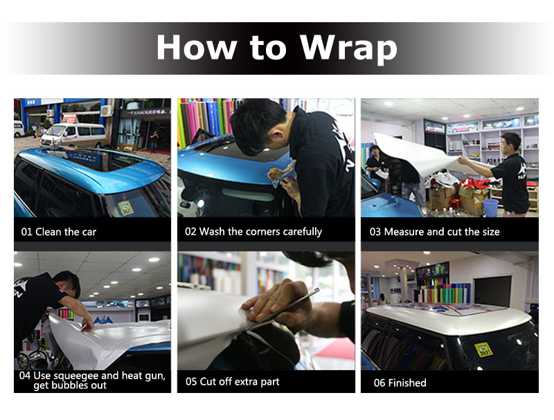 CARLIKE Wholesale Super Gloss Piano Car Film Protection Wrapping Roll