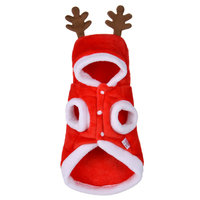 Wholesale Velvet Elk Design Cat Dog Christmas Costume Ornaments Stocking Pet Clothes Christmas Dog