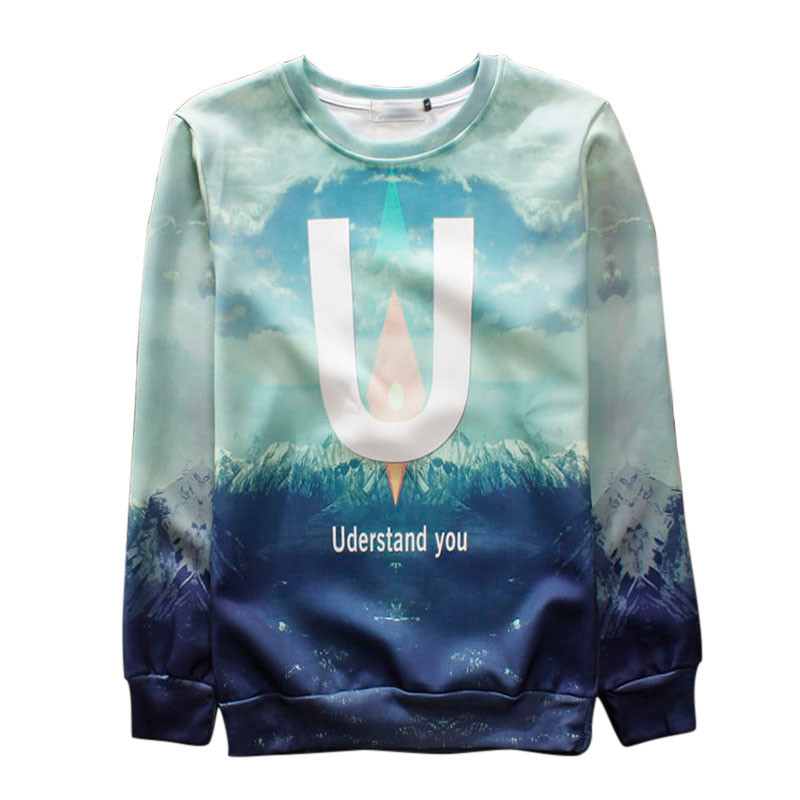 Alisister Harajuku style men/women's 3d sweatshirt printed Uderstand you graphic hoodies sweatshirts clothes moleton feminino