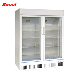upright glass door cold drink refrigerator