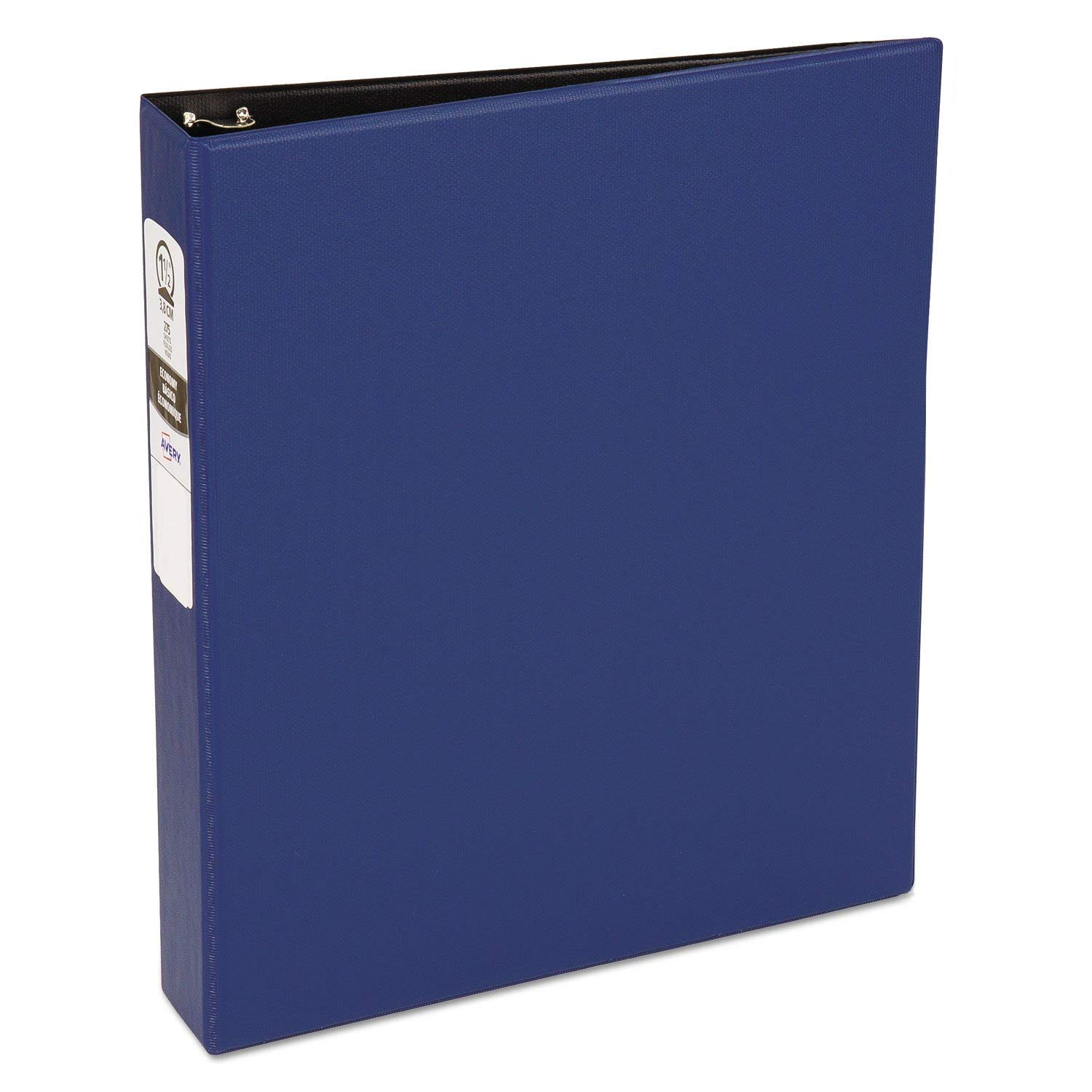"""Economy Non-View Binder with Round Rings, 11 X 8 1/2, 1 1/2"""""""" Capacity, Blue"""